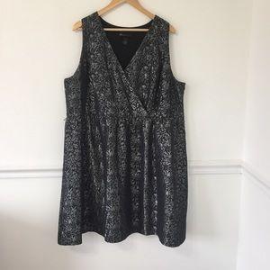 Lane Bryant Black Silver Cocktail Dress